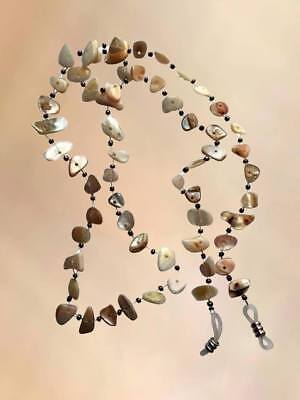 NEW Real Shell Beige Eye Glasses Chain Necklace Reading Strap Holder Long Length