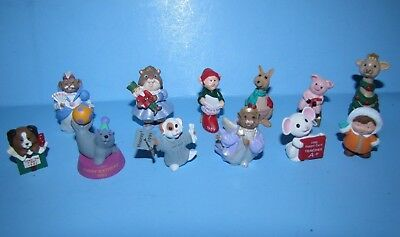 Hallmark Merry Miniatures Lot of 12 Various Miniatures  No Duplicates (Lot 3)