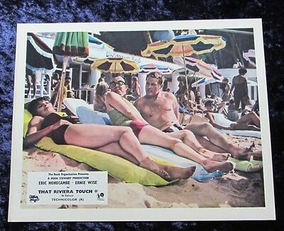 THAT RIVIERA TOUCH lobby card #7 ERIC MORECAMBE, ERNIE WISE mini uk card