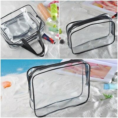 Cosmetic Makeup Toiletry Clear PVC Travel Wash Bag Zipper Holder Pouch Kit New