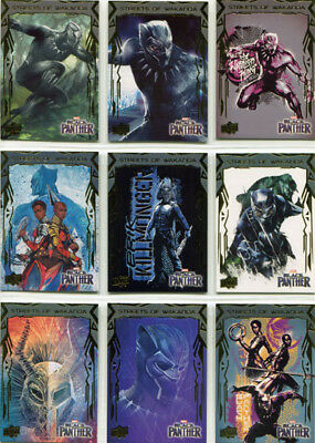 Marvel Black Panther Streets of Wakanda Complete 12 Card Chase Set SW1 - SW14