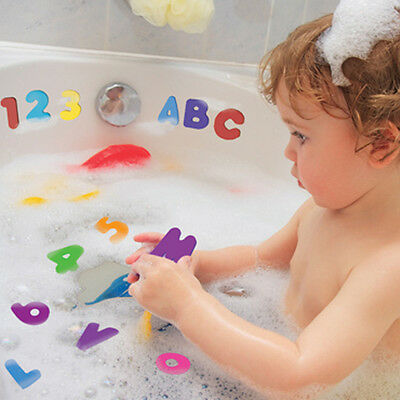 36X Education Baby Bath tub Floating Kid Toddler Foam Numbers Letters Toy Funny