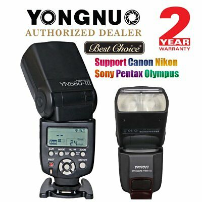YONGNUO YN560 III Universal Wireless Speedlite Flash Sony Canon Nikon Pentax US