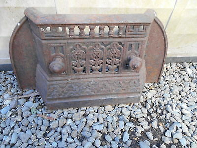 Salvaged Antique / Victorian  Shabby Chic Cast Iron Tidy Betty   Fire Front
