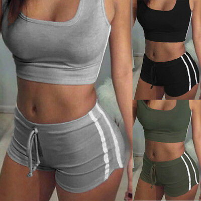 US NEW Women Sport Suit Fitness Clothing  Yoga Set Gym Running Sportwear Workout