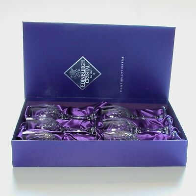 Edinburgh Crystal, Serenade, 6 X Large Wine Glasses, 7.25 Inches, Boxed.