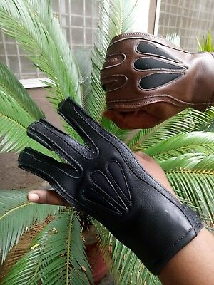 Big Shot Crossover Glove Archery Shooting Gloves 100% Real Buffalo hide Leather