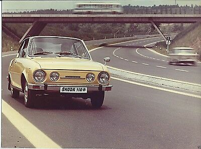 Skoda 110 R Original Press Photograph Foto Circa 1974 Colour Image