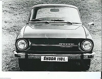 Skoda 110L De Luxe Original Press Photograph Circa 1971 Excellent Condition Foto