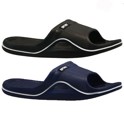 Mens Gents Sports Beach Holiday Gym Shower Flip Flops Mules Sandals Size 6-11