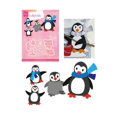 Penguin metal die cut set Eline's Christmas Winter Cutting Dies Marianne COL1416