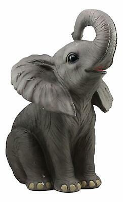 """Ruby The Elephant Sitting Pretty Large Statue 17""""Tall Circus Carnival Elephant"""