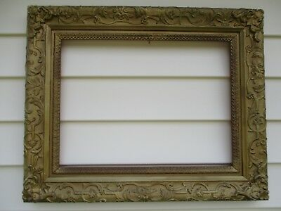 VINTAGE ANTIQUE GESSO Gold Gilded Wooden Picture Frame for Painting ...
