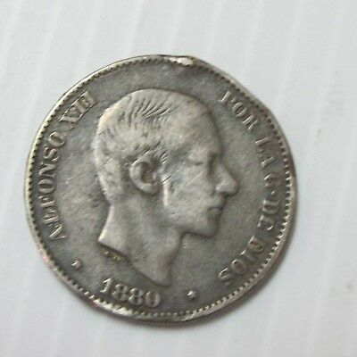 1880 20C Philippines 20 Centimo Key Date Coin Q3B2