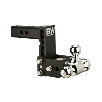 B&W TS10048B Tow and Stow Magnum Receiver 2 Inch Hitch Ball Mount w/ 5 Inch Drop
