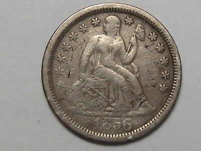 1856 (Large Date) US Seated Liberty Dime.  #28