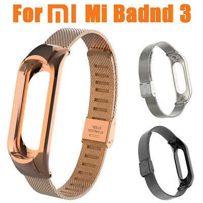 For Xiaomi Mi Band 3 Milanese Stainless Steel Luxury Wrist Strap Metal Wristband
