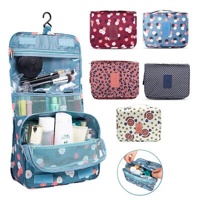 Travel Cosmetic Storage MakeUp Bag Folding Hanging Organizer Pouch Toiletry