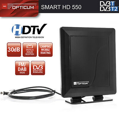 DVB-T2 Antenne 30db FULL HD Digital TV DVB-T & DVB-T2 Zimmerantenne  DAB Radio