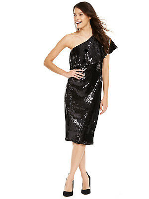 V by Very One Shoulder Sequin Dress