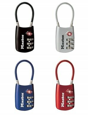 Master Lock 4688D Combination Luggage Lock, Metal, Assorted Colors