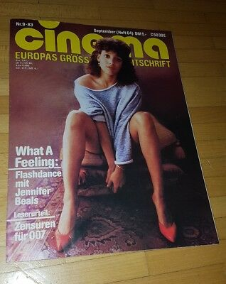 CINEMA 9/83 Flashdance,  Jennifer Beals, Die Supernasen, James Bond,Octopussy,