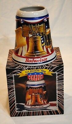 1997 Budweiser Let Freedom Ring Stein with box Liberty Bell CS305