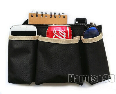 Wheelchair Storage Wallet Bag Pocket Punch Case/Scooter Armrest Bar Attach