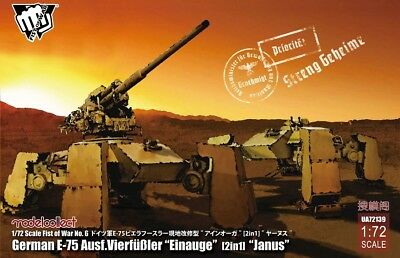Modelcollect UA72139 - 1/72 Fist of War German WWII E-75 Ausf.Vierfubler Einauge