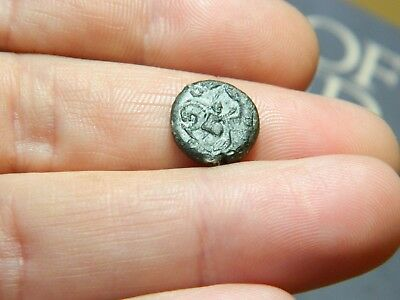 Small Un - Researched Roman Bronze coin Emperor ? metal detecting detector