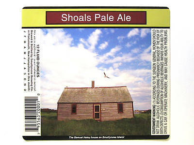 Smuttynose Brewing SHOALS PALE ALE beer label NH 12oz
