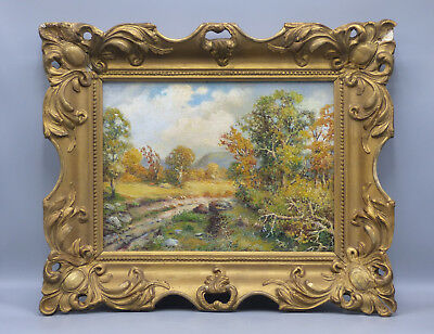 Frank F. Falk Autumn Landscape Oil Painting Illinois Listed Artist Early 20th C