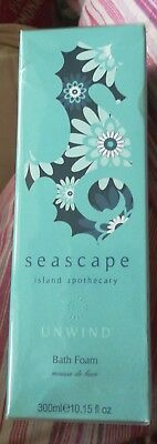 BRAND NEW SEASCAPE ISLAND APOTHECARY UNWIND BATH FOAM - 300ml