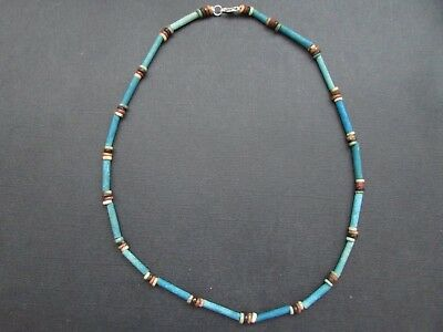 NILE  Ancient Egyptian Mummy Bead Necklace ca 1000 BC