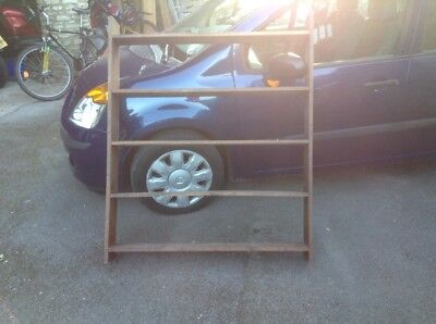 Old Solid Oak Book Shelves Case For Fixing To A Wall