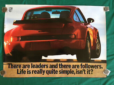 Porsche Official 911 964 Turbo Leaders Showroom Poster 1991 - 1992 Usa Rare