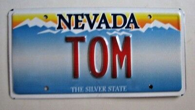 "Nevada Vanity License Plate  "" Tom "" Thomas Tommy Thom Tommie Tomi"