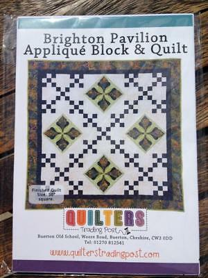 Brighton Pavilion Applique Block & Quilt Pattern & Instructions Quilters Trading