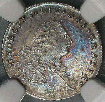 1800 NGC AU 55 Maundy Silver 2 Pence George III Great Britain Coin (18020404C)