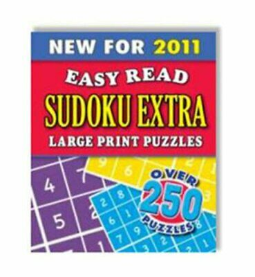 Sudoku Extra (Easy Read) Spiral bound Book The Cheap Fast Free Post