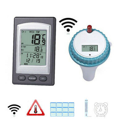 Waterproof Wireless Floating Thermometer Pool Thermometer w/ Remote Controller