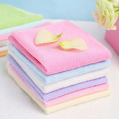 6x Bath Washcloth Washer Baby Cotton Face Wipes Washable Bath Towel Set w/