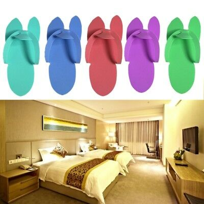 12Pair Disposable Soft Slippers Pedicure Salon Foot Spas Flip Flop Foam Hotel
