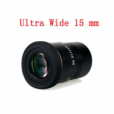 """1.25"""" 15mm 66°Ultra Wide Angle Eyepiece Fully MultiCoated for Telescope Freeship"""