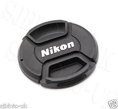 49Mm Center Centre-Pinch Clip-On Front Lens Cap Cover For Nikon Lc-49