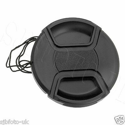 82Mm Generic Centre-Pinch Clip-On Front Lens Cap Cover For Nikon Canon Sony