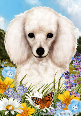 Garden Indoor/Outdoor Summer Flag - White Poodle 180041