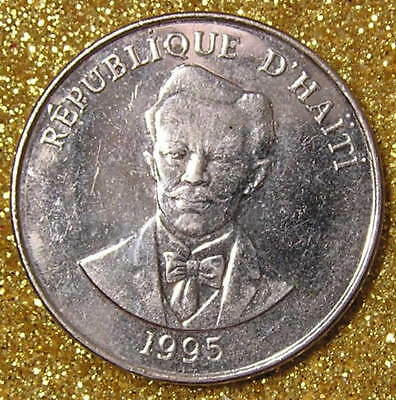 1-Coin from Haiti.  20-Centimes.  1995.