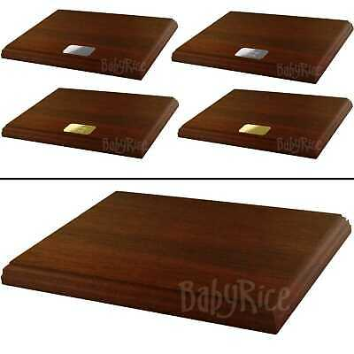 "Mahogany Display Plinth Base 8x6"" Choose Personalised Engraving Plaque or Blank"