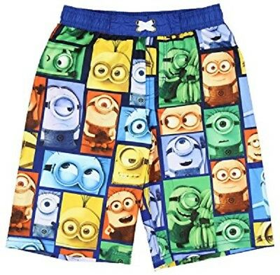 Nwt~Minions~Despicable Me~Swim Shorts~Trunks~Suit~Boy Board Bathing Suit~6/7~New